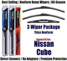 3-Pack Wipers Front & Rear NeoForm - fit 2009-2014 Nissan Cube - 16200x2/12B