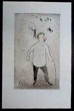 Kurt Mühlenhaupt Herr Krause handkolorierte Lithographie 1999 handsigniert