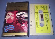 PAUL McCARTNEY & WINGS RED ROSE SPEEDWAY PAPER LABELS cassette tape album T2749