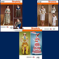 Simplicity Sewing Pattern Misses 18th Century Cosplay Costume New You Pick