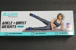 New Jillian Ankle or Wrist weights 1lb each 2# set Cardio workout Rehab fit Yoga