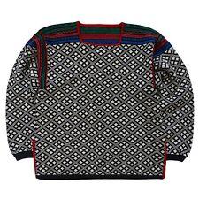 Norway Jumper Sweater Wool Vintage Nordic Winter Womens XL