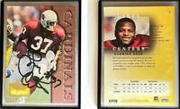 Larry Centers Signed 1995 SkyBox Premium #5 Card Arizona Cardinals Auto Autograp