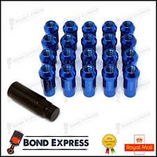 Blue - Epman Racing Steel Acorn Wheel Lug Nuts - JDM  - M12 x 1.5 - UK Stock