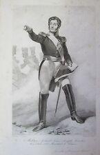 MARECHAL DE FRANCE COMTE DE MOLITOR PORTRAIT ETAT DES SERVICES GRAVURE 1839