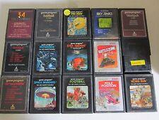 Lot of 15 vintage Atari 2600 games.