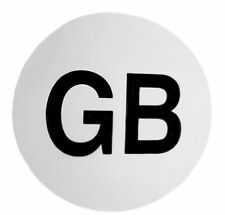 2 GB Magnetic Signs Car Badge Vehicle Van Sticker Logo White ROUND Travel Safety