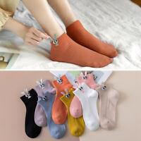 1 Pairs Girls Kawaii Rabbit Ears Funny Socks Women Cartoon Cotton Ankle Sock New