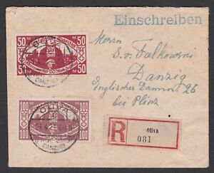 Germany. Danzig - Olivia. Locally addressed Registered Cover. Gepruft / Attest.