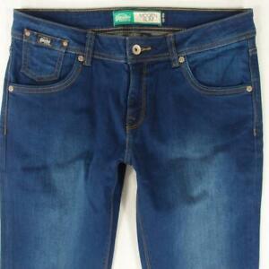Womens SuperDry IMOGEN SLIM Stretch Straight Blue Jeans W30 L30 Size 10