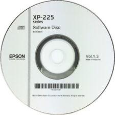 XP-225 EPSON PRINTER SOFTWARE DRIVER DISC CD / DVD CLONE