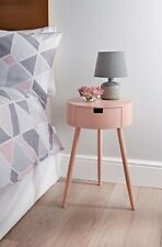 Moden Blush 1 Drawer Bedside/End Table Perfect For Your Home W40 x D40 x H60cm