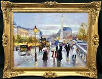 "1920s French Impressionist Oil Painting View of Paris signed.....  ""Emile Boyer"""