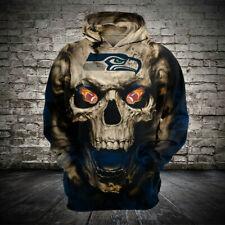 Seattle Seahawks Hoodie Football Hooded Sweatshirt Sports Jacket Gift for Fans