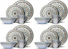 16PC Melamine Dinner Set Plates Bowls Mugs Kitchen Service 4 Family Dining Set  sc 1 st  eBay & Buy Melamine Complete Dining Sets | eBay