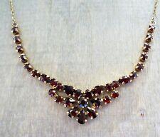 Granat Kette Collier aus 333 Gold (gestempelt)