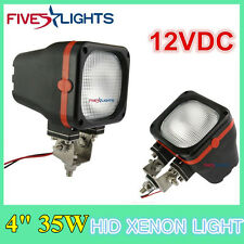 """2 x 4INCH 35W SQUARE FLOOD HID XENON LIGHT DRIVING 4WD BOAT OFFROAD JEEP 12V /7"""""""