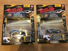 RC Pocket Racers Lot Of 2 Phantom Black. Includes Cones And Storage Box