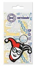 Gummi Schlüsselanhänger BATMAN - Harley Quinn - Head - Rubber Keyring  38472