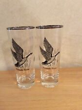 2 - 14 oz Tall Vintage Canadian / Canada Goose Drinking Glasses Water Tea Mixed