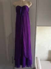 Women's purple Ralph Lauren long silk dress size 8