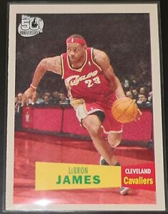 LeBron James 2007-08 Topps 1957-58 VARIATIONS Insert Card (no.23)