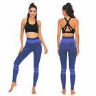 Women High Waist Yoga Stitching Color Pants Gym Shrink Leggings Trousers Syf Usa
