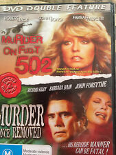 MURDER ON FLIGHT 502 -MURDER ONCE REMOVED *DOUBLE FEATURE * USED DVD *(E) (H )