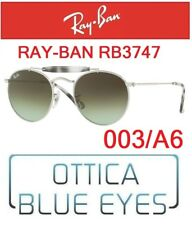 Ray-ban Occhiali da sole Rb3747 003/a6 metallo Argento Grigio Havana/verde