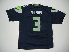 SEATTLE SEAHAWKS Nfl Football Team #3 RUSSELL WILSON JERSEY Shirt Kid Sz YOUTH L