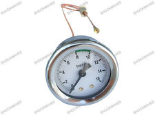 Dial Calibrador de presión de 0 a 16bar Máquina De Café Fabricante Manómetro De Latón G capilar