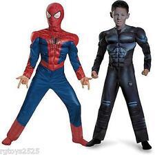 Spiderman Electro Reversible Costume Size 8 New 7 8 Boys Halloween