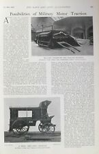 1903 PRINT MILITARY MOTOR TRACTION SHELTER WAGGON CHARLES ALLEN AMBULANCE HOLMES