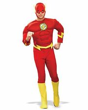 Adult The Flash Costume Deluxe Muscle Chest Super Hero Halloween Size Large