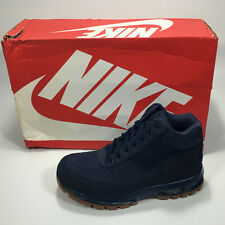 Nike Air Max Goadome (GS) Leather Boots Boy's Midnight Navy 311567-400 NEW