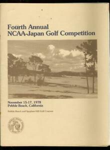 4th Annual Ncaa-Japan Golf Competition Program November 15-17 1978