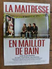 Affiche LA MAITRESSE EN MAILLOT DE BAIN  éric SAVIN  frank GOURLAT  40x60cm *