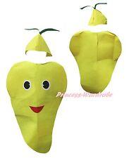Xmas Halloween Party Yellow Mango Fruit 2p Adult Unisex Costume Wear Cosplay Set