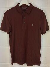 All Saints Vidal Polo Shirt Burnt Red 100% Cotton - Size - S  BNWT