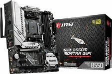 MSI MAG B550M MORTAR WIFI AM4 AMD B550 PCIe 4.0 Wi-Fi 6 Micro-ATX Motherboard
