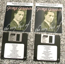 Best of Gershwin 2 Disk Set Yamaha PianoSoft Disklavier Xg Compatible Players