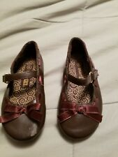 smart fit toddler girls dress shoes Brown bows size 6