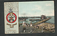 B&R Camera Series England 1907 The Harbor Lowestoft post card to Maryville MO