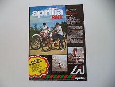 advertising Pubblicità 1980 MOTO APRILIA MX e BMX