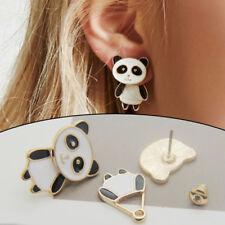 1Pair 3D Cute Women Girls Golden Panda Ear Stud Earrings Set Party Jewelry