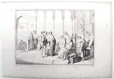 Stampa antica ALVISE CADAMOSTO navigatore da Enrico di Portogallo 1860 Old print