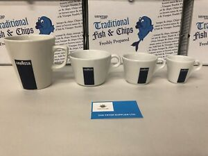 1 Set Of 4 Mixed Lavazza Cup Only Blue Box Logo Christmas Gift Set
