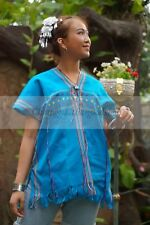 Tops Vintage Thai Hill Tribe Bohemian Antique Clothing Women Karen Cotton 100%