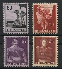 SWITZERLAND, DEFINTIVES 1958-59 CHANGED COLORS, MNH
