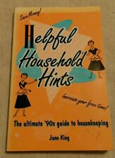 Helpful Household Hints Book by June King home tips maintenance